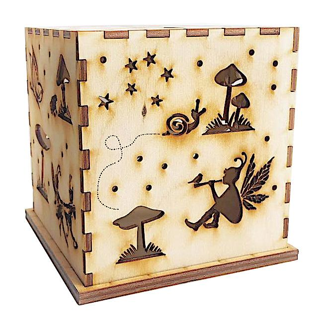 Wooden Fairy Fairies Luminary - Kids Night Light - Natural - Bella Luna Toys