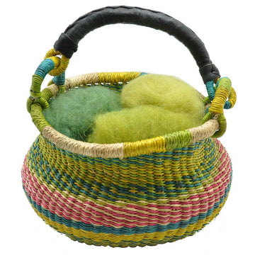 Organic Green Wool Easter Grass