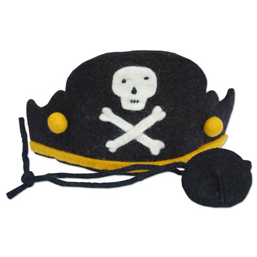 Pirate Hat Set, Wool Felt, Fair Trade