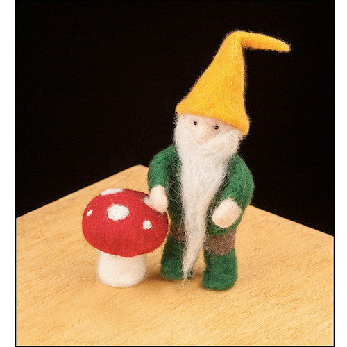 Woolpets Needle Felt Kit Gnome and Mushroom