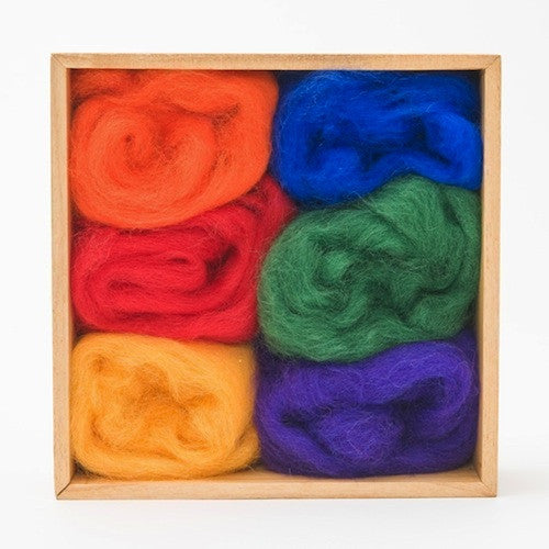 Needle Felting, Wool Roving, Woolpets, Rainbow