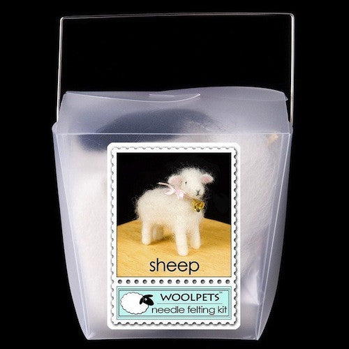 Needle Felting Kit, Woolpets, Lamb