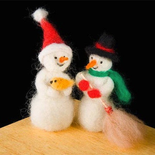Woolpets Snowman Needle Felting Kit