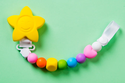 Colourful Pacifier Clip