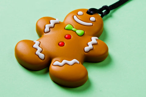 Gingerbread Man Teething Pendant