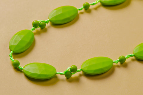 Green Teething Necklace