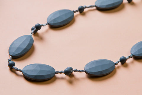 Grey Teething Necklace
