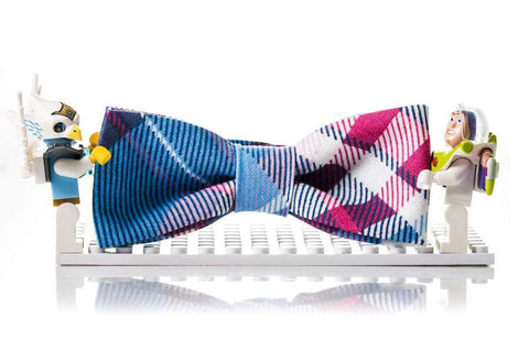 Kids Outfit Bow Tie Blue and Pink