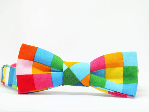 Kids Outfit Bow Tie Squares