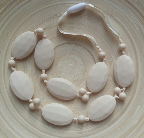 MikaB Teething Jewellery Cream Necklace