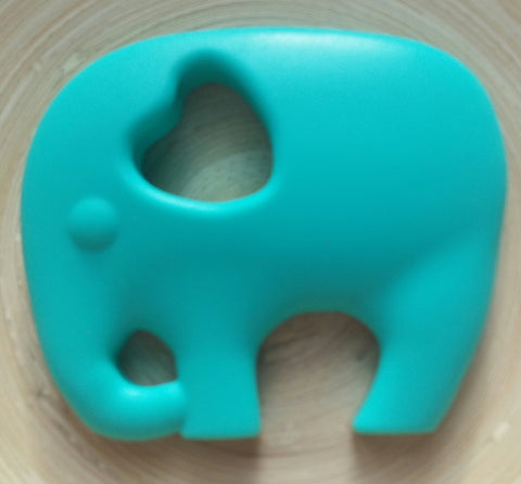 MikaB Teething Jewellery Turquoise Elephant Teether