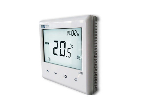 RF room thermostat compatible with SYME Master-UK Infrared Heating Company