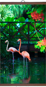 "Wall mounted Picture Heater. Far Infrared Heating Panel 450W ""Pink flamingo""-UK Infrared Heating Company"