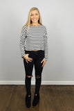Striped Ruffled Edge Top