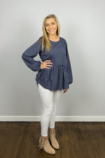 Something Borrowed Peplum Top