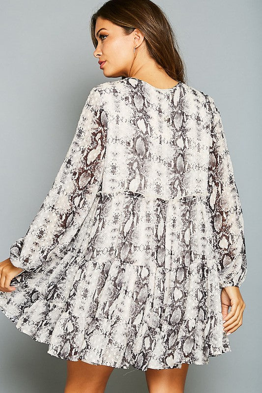 Animal Printed Flowy Dress