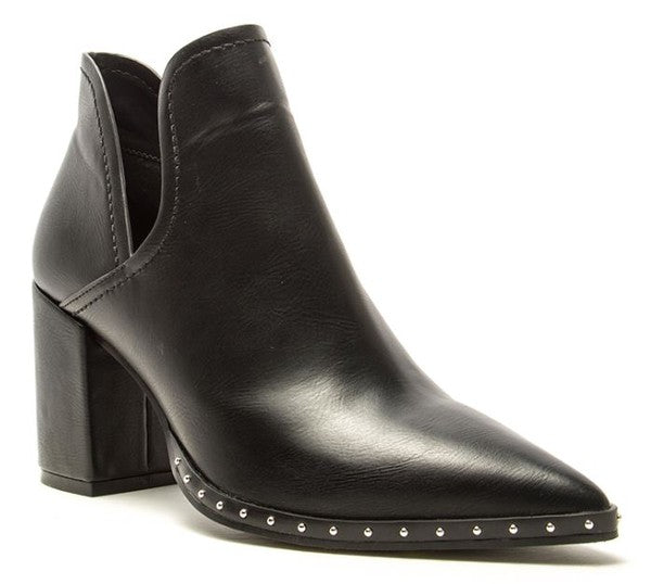 Black Pointy Ankle Bootie