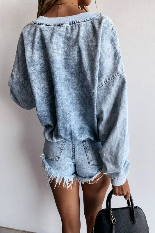 Piper Washed Denim Top