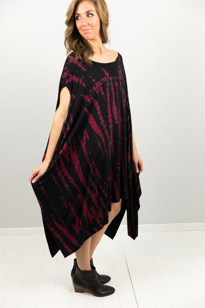 Elysian Hot Lava Poncho Dress