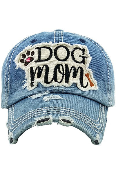 Dog Mom Baseball Cap-Blue