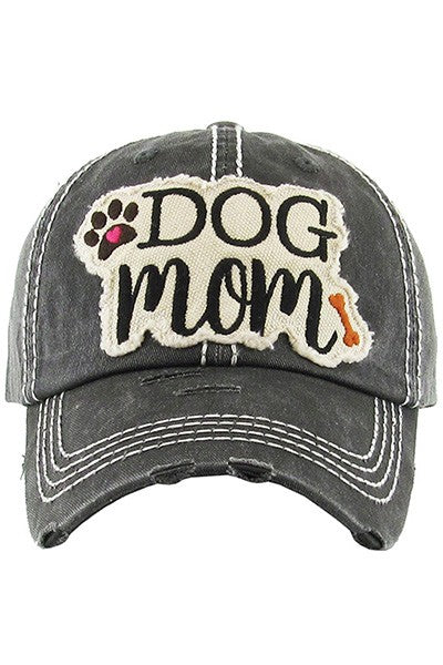 Dog Mom Baseball Cap-Gray