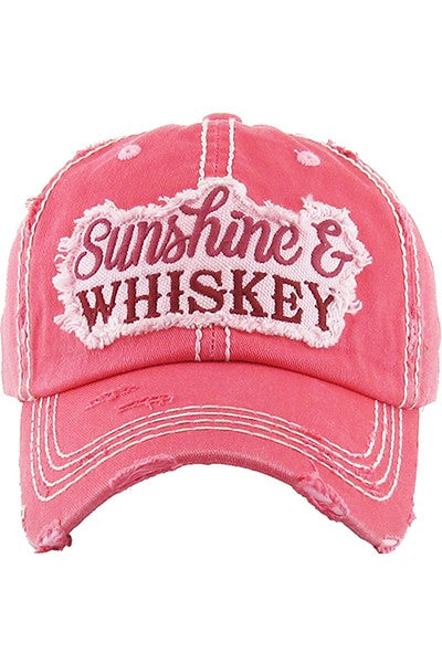 Sunshine and Whiskey Hat- Red