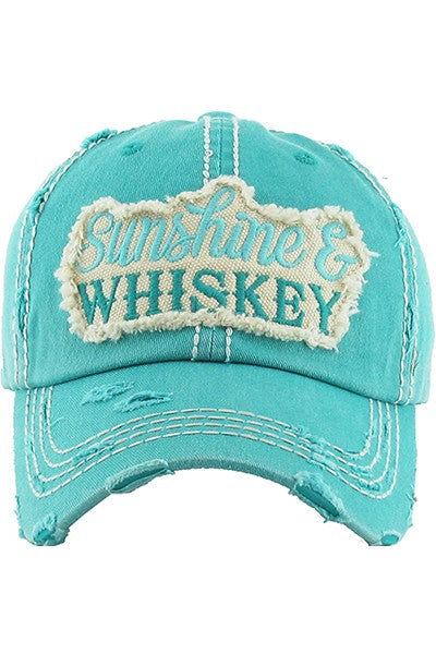 Sunshine and Whiskey Hat- Turquoise
