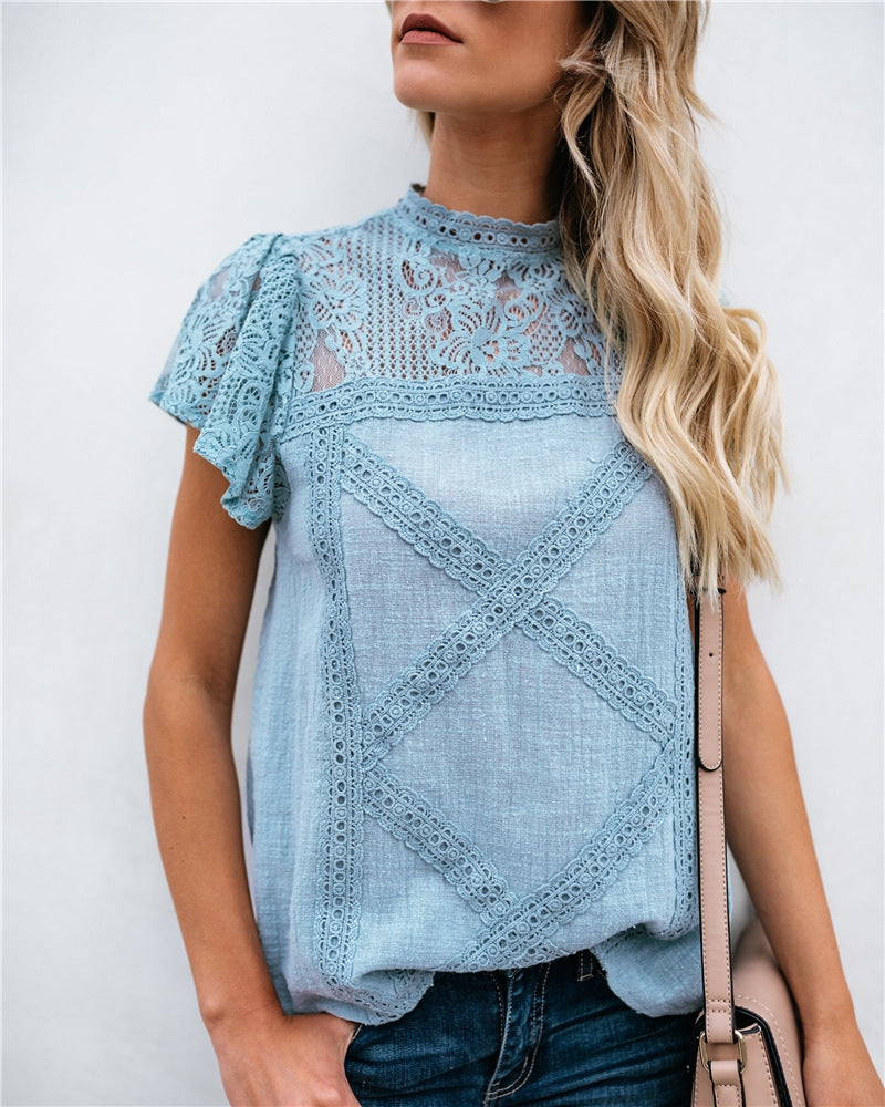 Blue Lace Summer Top