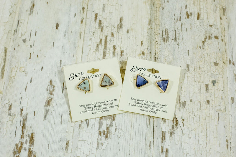 Elysian Triangle Stone Earrings