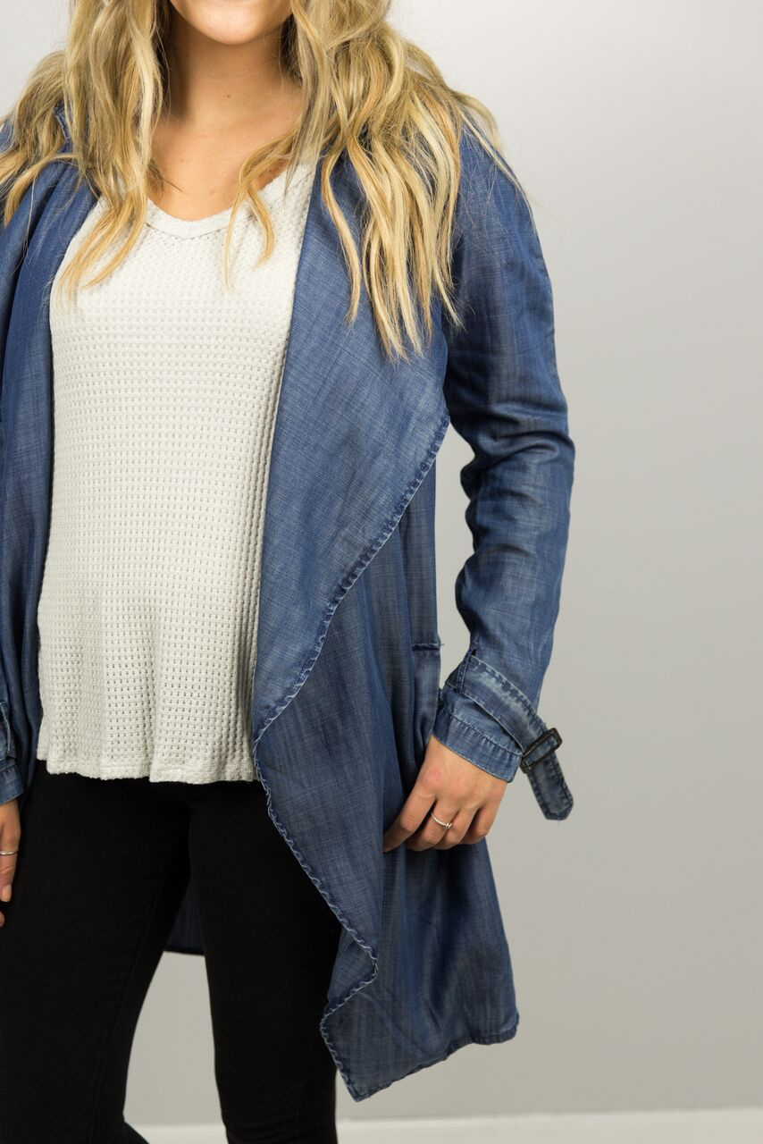 Great Lengths Denim Trench Jacket