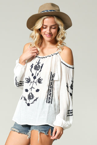 Long Sleeve Boho Blouse