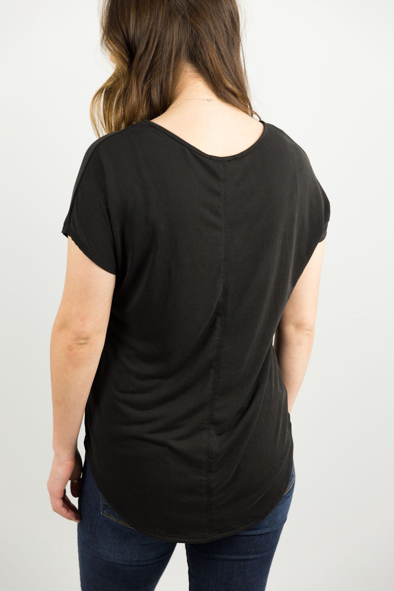 Basic Pocket Tee in Black