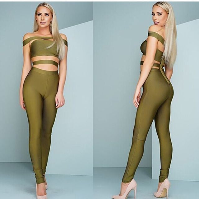 The         A  Aabaaxa Bandage Jumpsuit