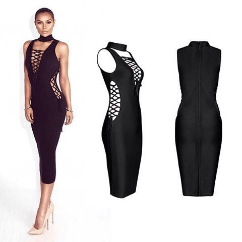 The                                                                                                                                                   A  Aalonaniie Bandage Dress