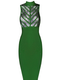 The Lacey Green Bandage Dress