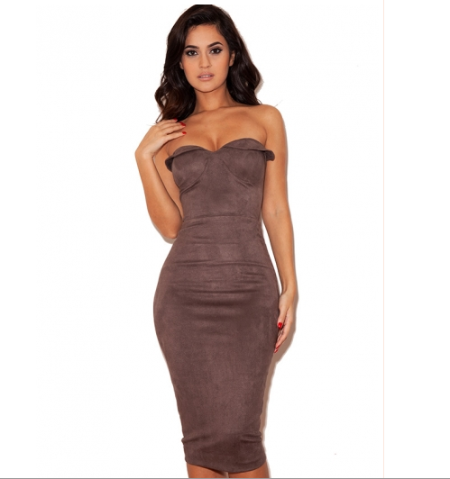 The Latina Suede Dress
