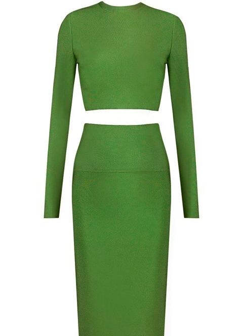 The Ivy Turtle Neck 2 Piece Bandage Dress