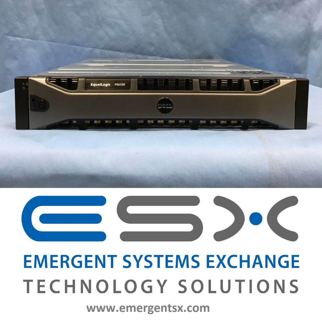 Dell EqualLogic PS6110x Storage Array - 24x 900GB 10k, 2x 10G Controllers 21.6TB