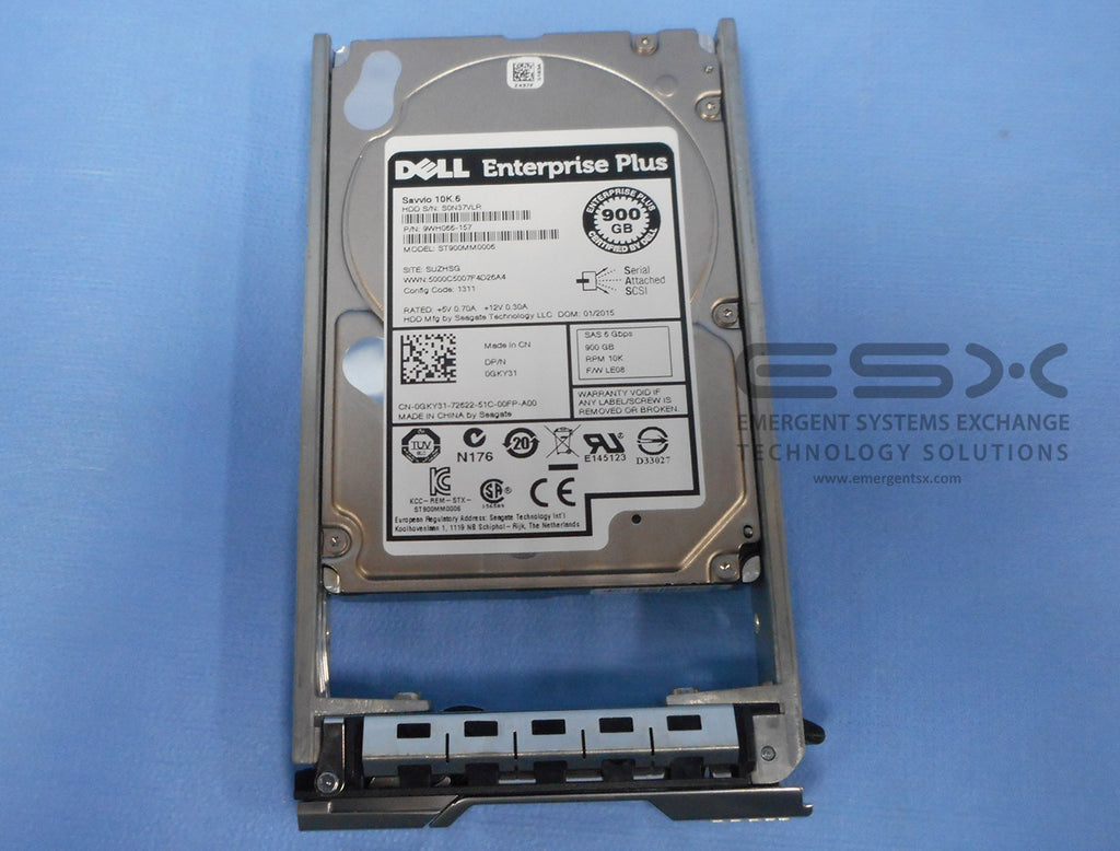 "Dell EqualLogic 900GB 10k 6Gbps 2.5"" SAS HD PN: GKY31 for PS6100 PS6110 PS6210"