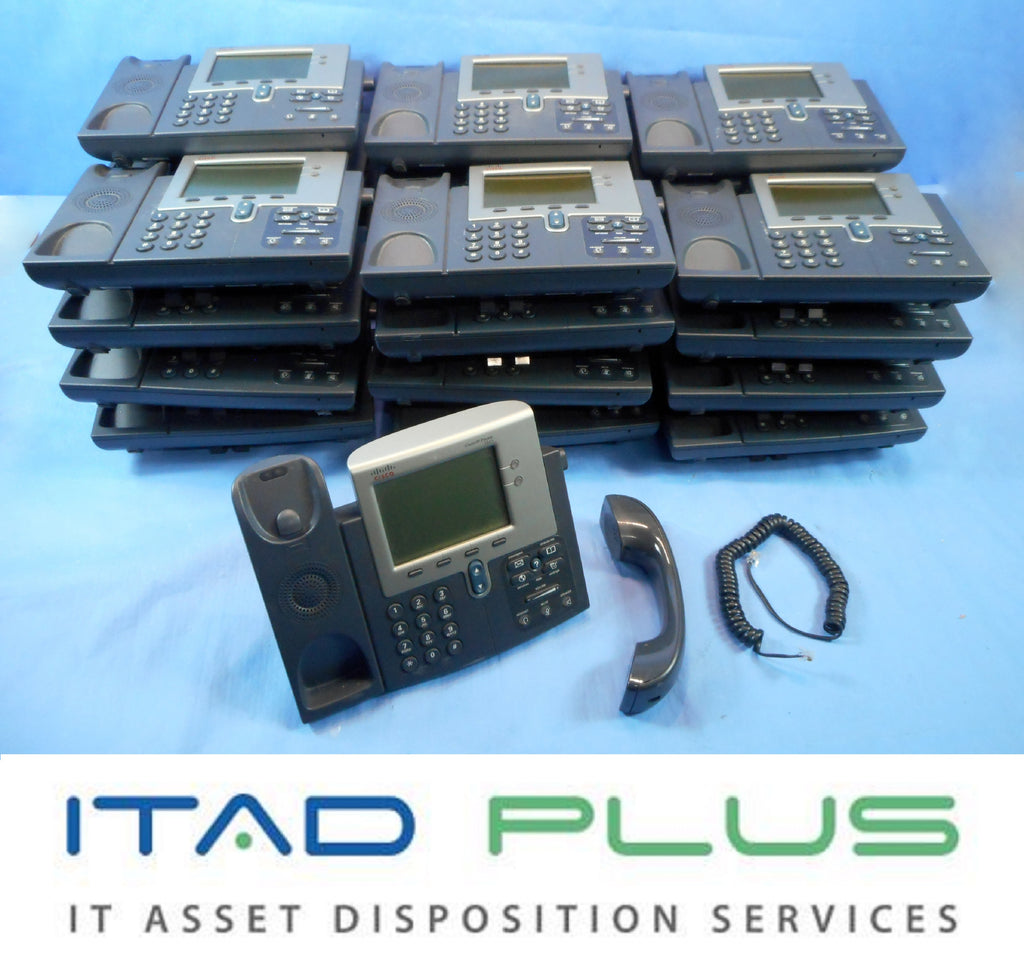 1 Lot of 25 Cisco 7941 CP-7941G IP Phone with Stand and Handset