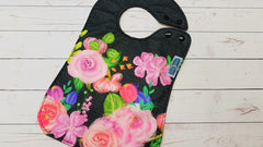 Burlap Floral Exclusive 6.22 <br>Boutique Bib<br>Instock and ready to ship