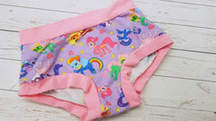 Pony Pals (light pink accent), Size XS<br>Mama Bella Bottoms<br>Instock and Ready to Ship