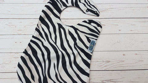 Zebra <br>Waterproof Boutique Bib<br>Instock and ready to ship