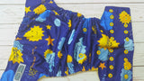 My Sunshine (citron awj, two toned snaps; aqua caps, marigold pieces) <br>Performance Knit Traditional, One Size Pocket Diaper<br>Instock and Ready to Ship