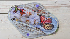 Max 2 per person<br>Blue Lakeside Butterfly, Regular Mama Cloth (8.5 inch)<br>*PRE ORDER*