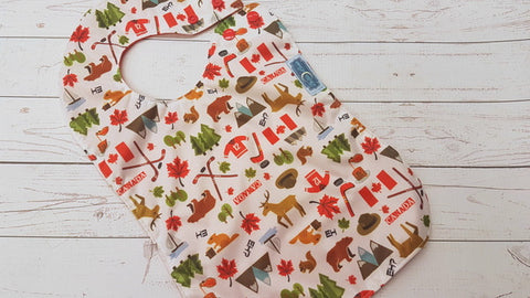 Canada Eh?<br>Waterproof Boutique Bib<br>Instock and ready to ship
