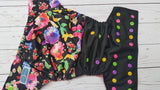 Grandma's Garden (black pul, magenta awj, multi snaps; apple, hot pink, marigold, violet) <br>Half & Half, One Size Pocket Diaper<br>Instock and Ready to Ship
