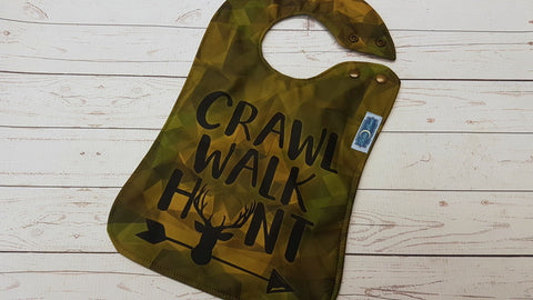 Walk Crawl Hunt EXCLUSIVE  <br>Boutique Bib<br>Instock and ready to ship