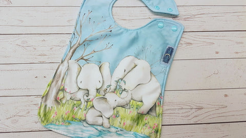 Elephant Showers <br>Boutique Bib<br>Instock and ready to ship
