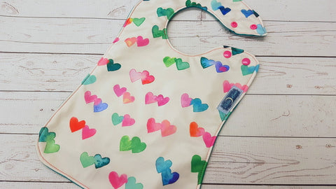 Twin Hearts <br>Boutique Bib<br>Instock and ready to ship
